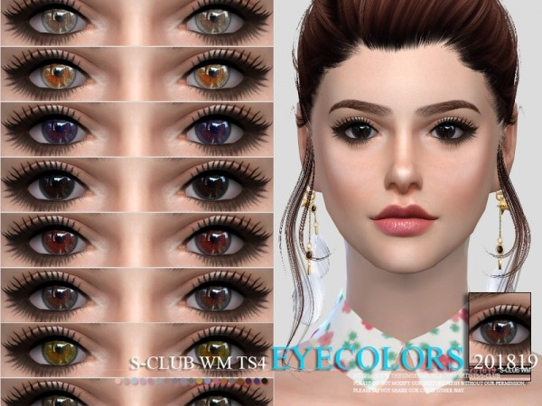 The Sims Resource: Eyecolors 201819 by S Club