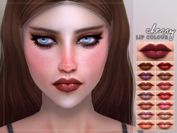 The Sims Resource: Cherry Lipstick by Screaming Mustard