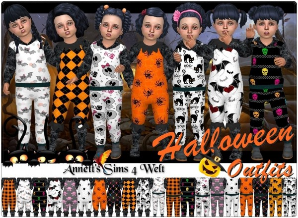 Annett`s Sims 4 Welt: Toddler Halloween Outfits 2018