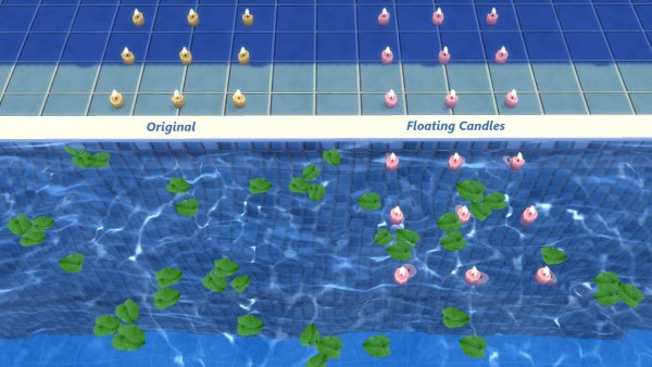 Mod The Sims: Floating Rangoli Candles by Snowhaze