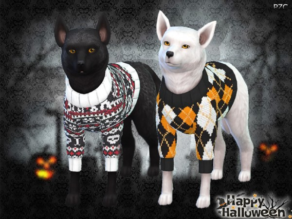 The Sims Resource: Halloween Sweaters For Small Dogs by Pinkzombiecupcakes