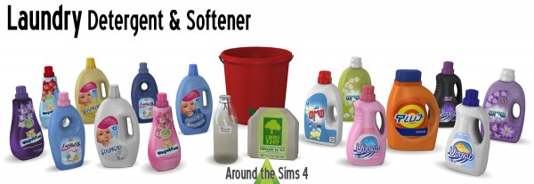 Around The Sims 4: Laundry detergent and Softener