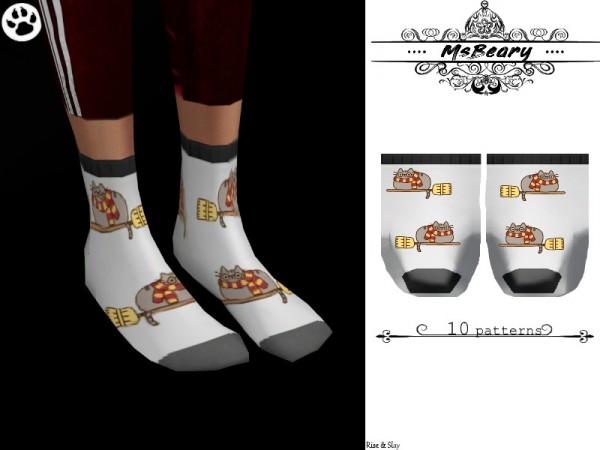 The Sims Resource: Pusheen Cat Socks by MsBeary