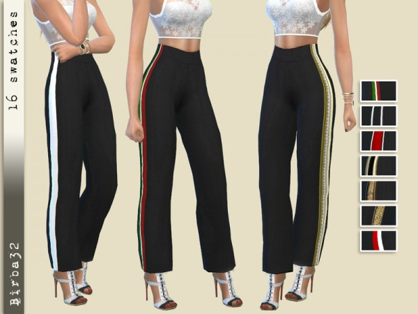 The Sims Resource: Wide line trousers by Birba32