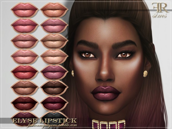 The Sims Resource: Elyse Lipstick by FashionRoyaltySims