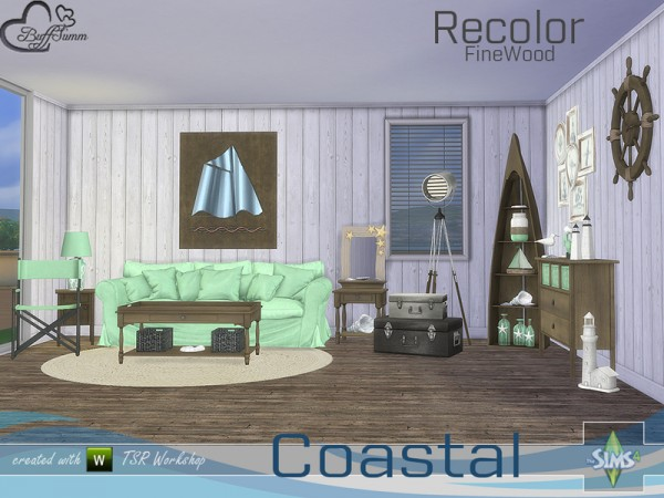 The Sims Resource: Coastal Living Fine Wood Recolor by BuffSumm