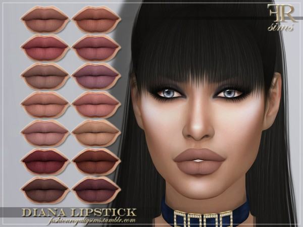 The Sims Resource: Diana Lipstick by FashionRoyaltySims
