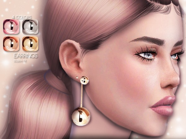 The Sims Resource: Earring BE02 by busra tr