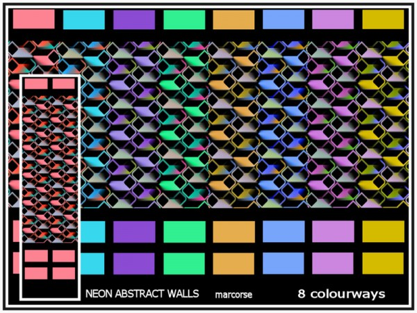 The Sims Resource: Meon Abstract Walls by marcorse