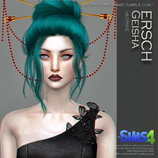 ErSch Sims: Geisha Hairpins