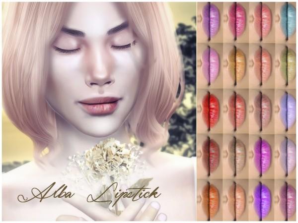 The Sims Resource: Alba Lipstick by KatVerseCC