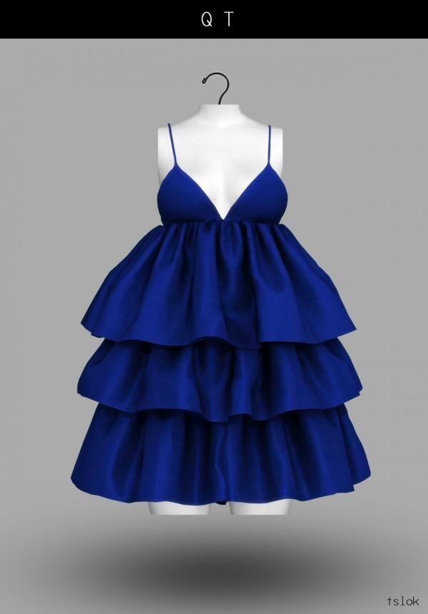 Tslok Qt Ruffle Dress Sims 4 Downloads