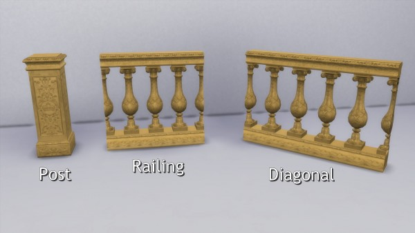 Mod The Sims: Kings Balustrade by TheJim07