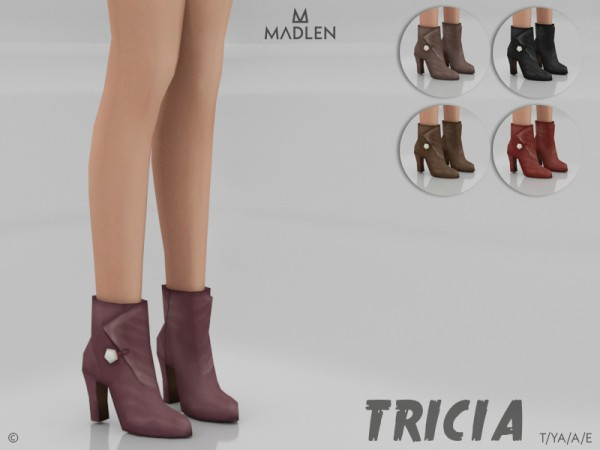 The Sims Resource: Madlen Tricia Boots by MJ95