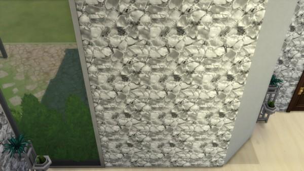La Luna Rossa Sims: Mixed Stones Walls