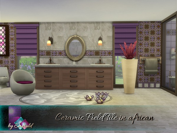 The Sims Resource: Ceramic Field Tile in african by emerald