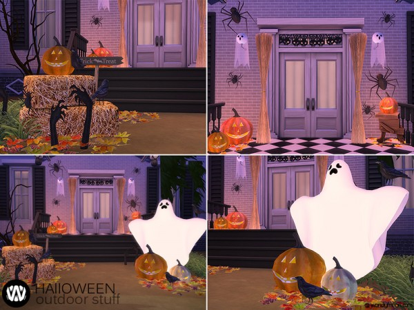The Sims Resource: Halloween Outdoor Stuff by wondymoon