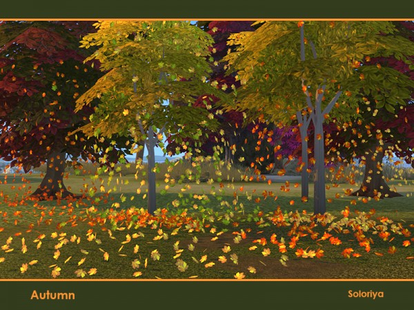 The Sims Resource: Autumn outdoor decor by soloriya