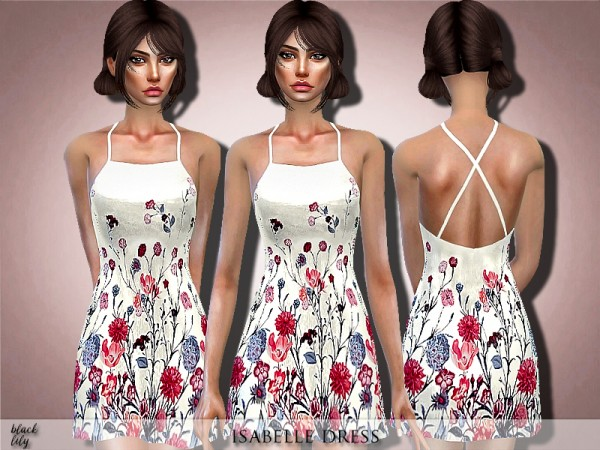 The Sims Resource: Isabelle Dress by Black Lily