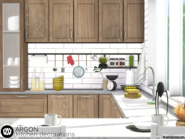 The Sims Resource: Argon Kitchen Decorations by wondymoon