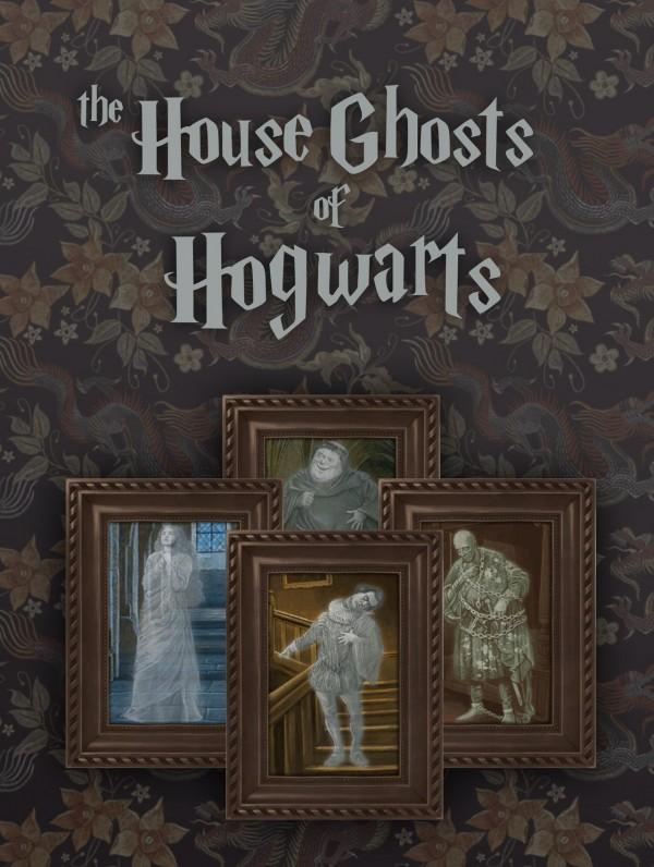 Simplistic: Hogwarts House Ghosts Paintings