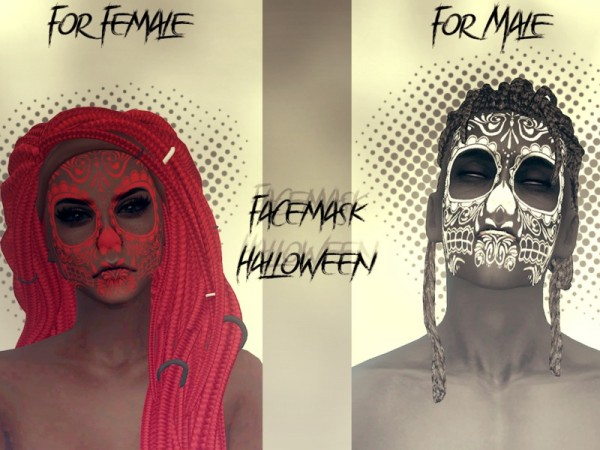 The Sims Resource: Facemask Halloween by Reevaly