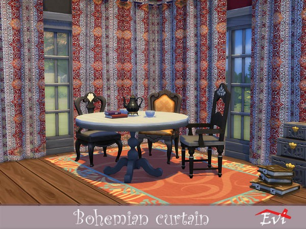 The Sims Resource: Bohemian curtains by evi