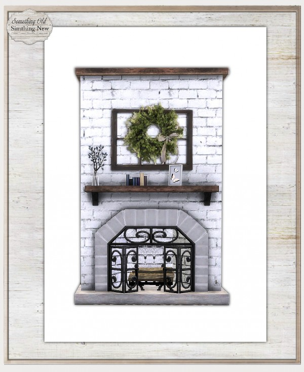 Simthing New: Rustic Fireplace Recolor