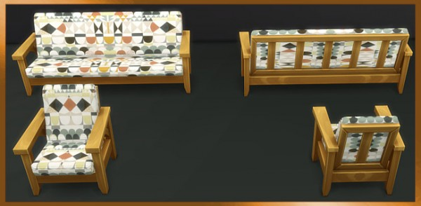 Blackys Sims 4 Zoo: Armchair and Sofa by weckermaus