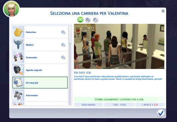 Mod The Sims: New Career: An Easy Job by Daleko