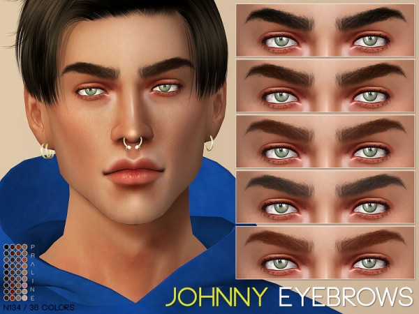 The Sims Resource: Johnny Eyebrows N135 by Pralinesims