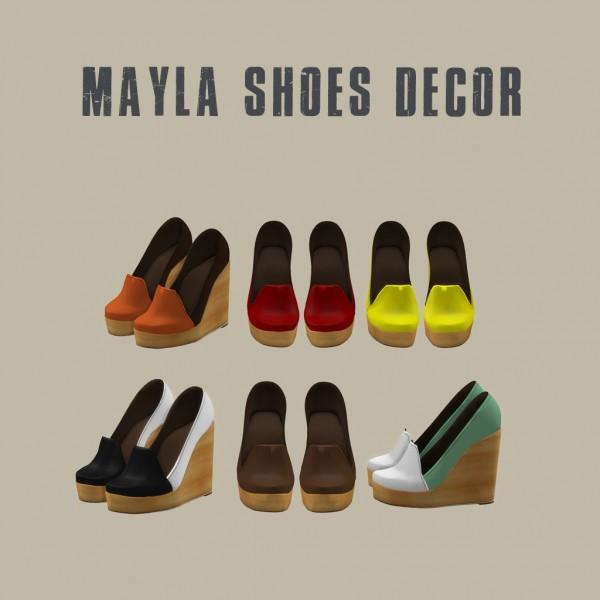 Leo 4 Sims: Mayla Shoes decor