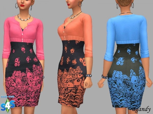 The Sims Resource: Dress Fran by dgandy