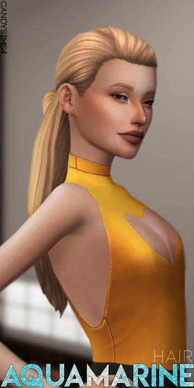 Candy Sims 4: Aquamarine Hair
