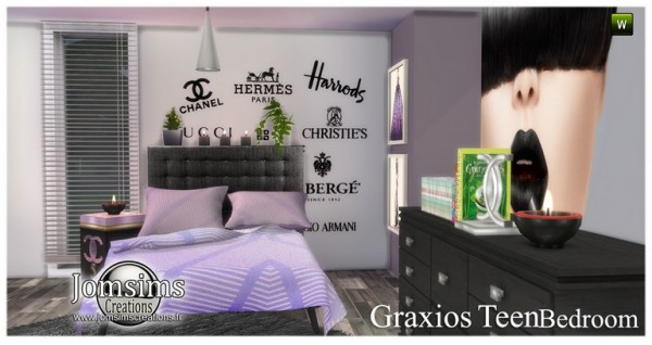 paints colors for bedrooms jom sims creations graxios bedroom sims 4 downloads 16619
