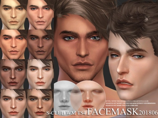 The Sims Resource: Facemask 201806 by S Club