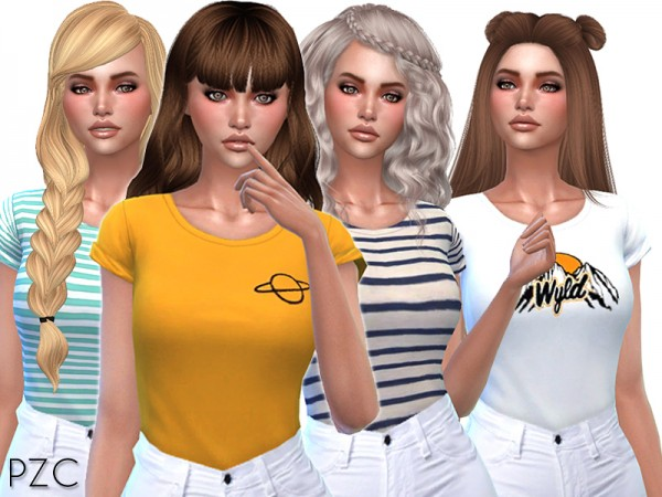 The Sims Resource: Cute T shirts Collection 02 by Pinkzombiecupcakes