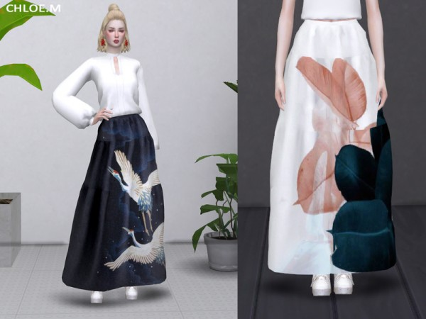 The Sims Resource: Long Skirt by ChloeMMM