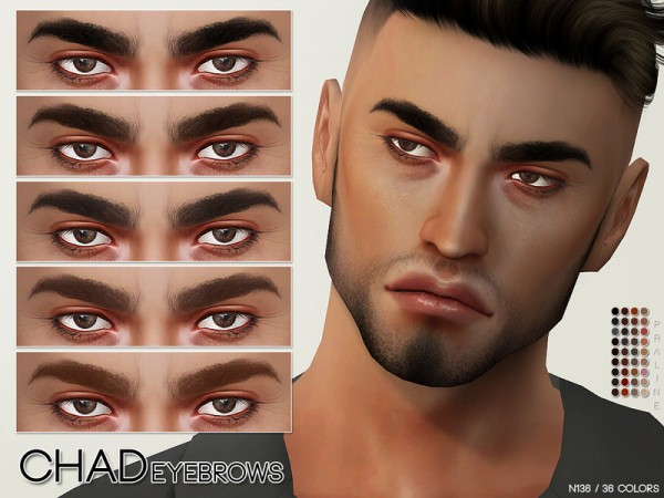 The Sims Resource: Chad Eyebrows N136 by Pralinesims