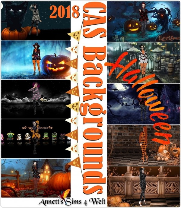 Annett`s Sims 4 Welt: CAS Backgrounds Halloween 2018