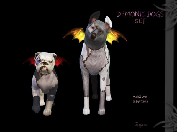 The Sims Resource: Demonic Dog Set by Suzue