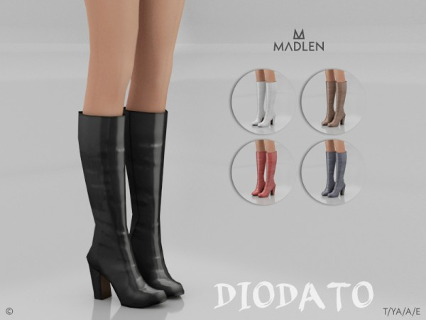 The Sims Resource: Madlen Diodato Boots by MJ95