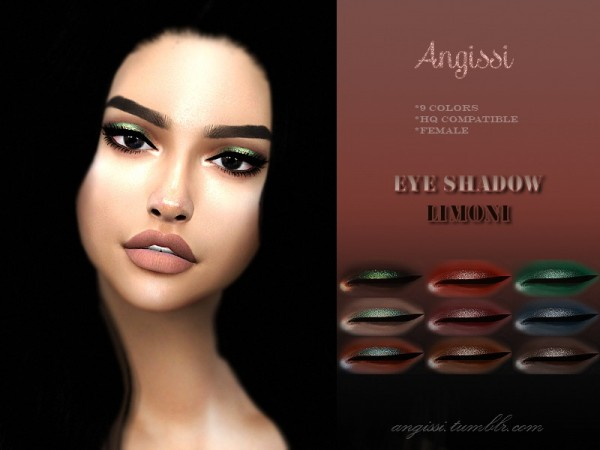 The Sims Resource: Eye shadow LIMONI by ANGISSI