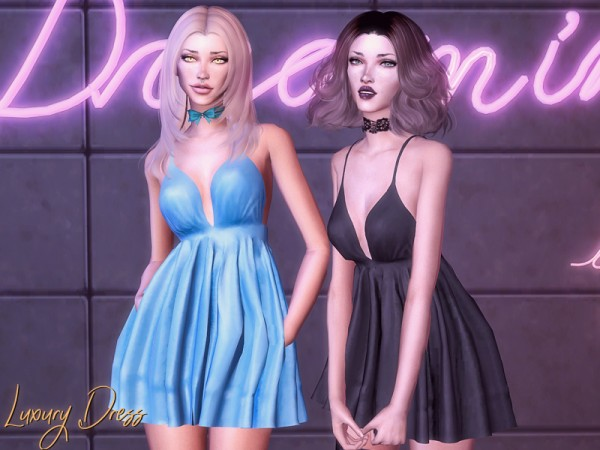 The Sims Resource: Luxury Dress by Genius666