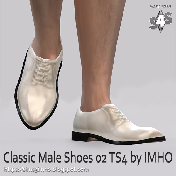 IMHO Sims 4: Classic Male Shoes 02