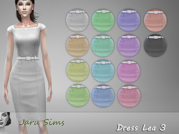The Sims Resource: Dress Lea 3 by Jaru Sims