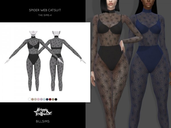 The Sims Resource: Spider Web Catsuit by Bill Sims