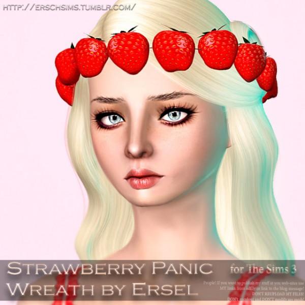 ErSch Sims: Strawberry Panic Wreath