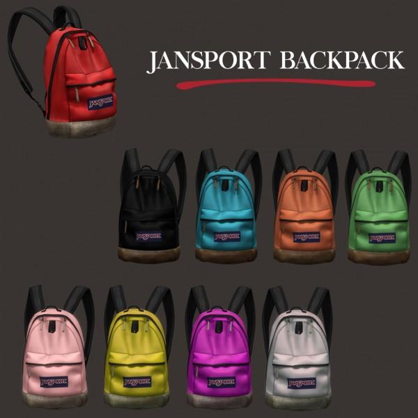 Leo 4 Sims: Jansport backpack 2