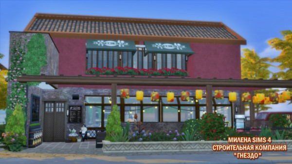 Sims 3 by Mulena: Restaurant and Restik Apartment
